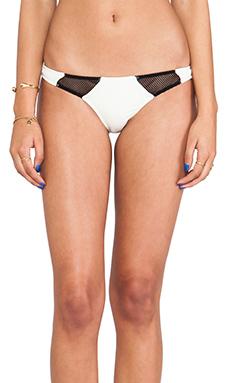 Tyler Rose Swimwear Bruce Mesh Bottom in Cream & Black