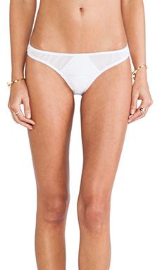 Tyler Rose Swimwear Jarret Cutout Mesh Bottom in White