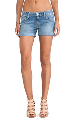 True Religion Cassie Low Rise Rolled Shorts in Charming Lily