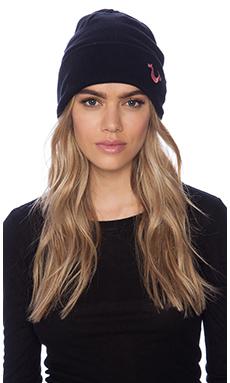 True Religion Knit Cotton Watchcap in Black