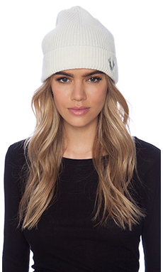 True Religion Ribbed Knit Watchcap in White