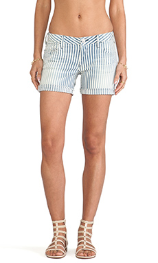 True Religion Cassie Rolled Short in Blue Stripe