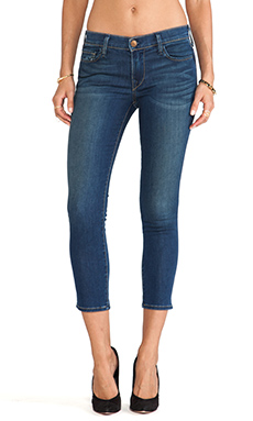 True Religion Halle Crop in Ocean Madness