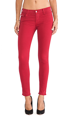 True Religion Serena Mid Rise Skinny in Rio Red