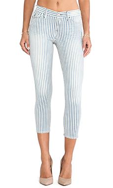 True Religion Serena Crop in Blue Stripe