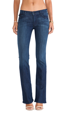 True Religion Becca Bootcut with Flaps in Faithful Message