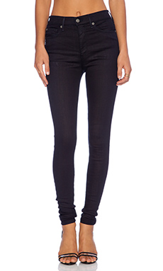 True Religion High Rise Halle Skinny en Midnight