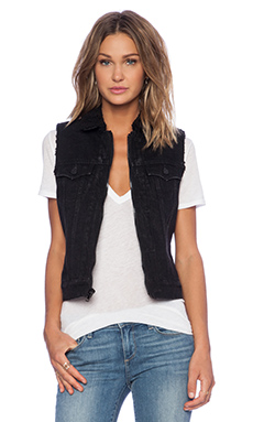 True Religion Dusty Vest in Dark Sequoia