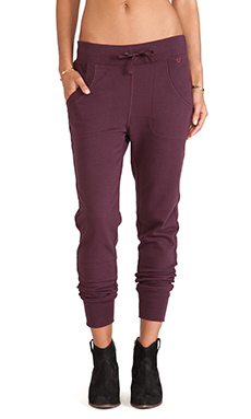 True Religion Banded Skinny Pant in Vintage Oxblood