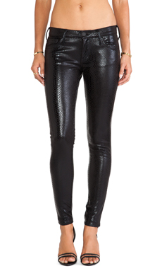 True Religion Casey Ponte Skinny in Black