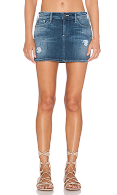 True Religion Alexia Mini Skirt in Destroyed Playa Lagoon