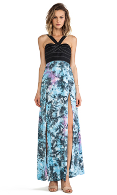 This is a Love Song Boulevard Dress in Black & Tie Dye 2
