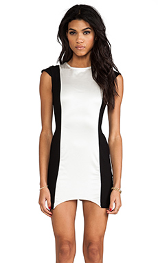 This is a Love Song Jackson Dress in Black/White
