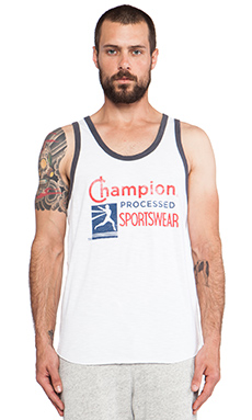 TODD SNYDER + Champion Processed Ringer Tank in White