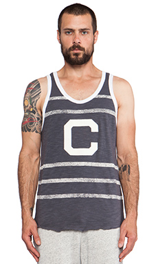TODD SNYDER + Champion Ringer Tank in Charcoal Heather