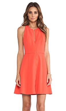 Trina Turk Bishop Dress in Cherry