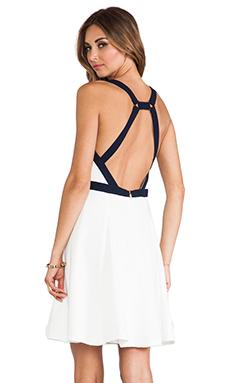 Trina Turk Lilette Dress in Whitewash & Indigo