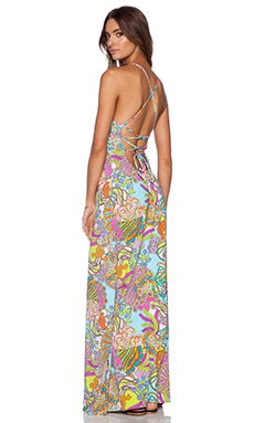 Trina Turk Coral Reef Maxi Dress in Multi