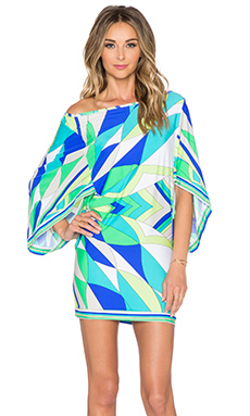 Trina Turk Fiji Feathers Tunic in Ocean