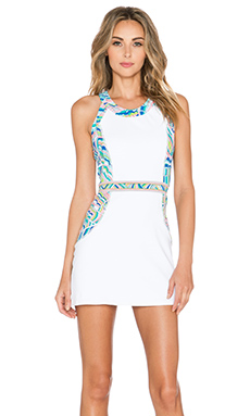 Trina Turk Scallop Shell Tennis Dress in Multi