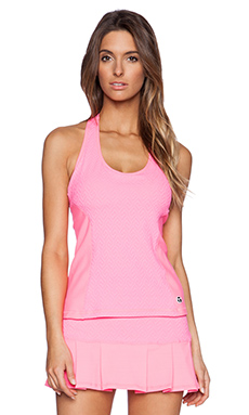 Trina Turk Racer Back Tank in Grapefruit