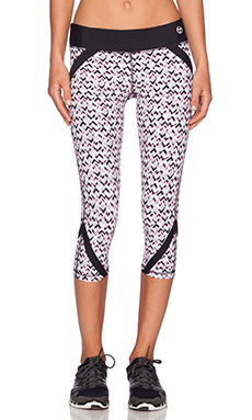 Trina Turk Rec Check Mid Length Legging in Grapefruit