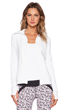 Trina Turk Racquet Club Jacquard Jacket in White