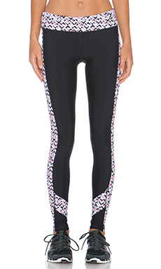 Trina Turk Rec Check Full Length Legging in Grapefuit
