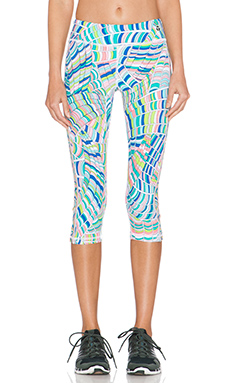 Trina Turk Scallop Shell Mid Length Legging in Multi