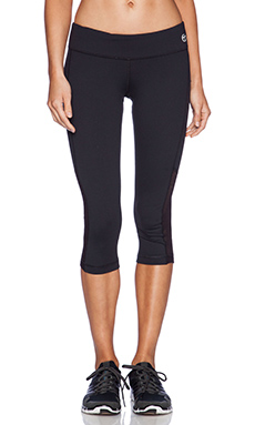 Trina Turk Active Mesh Crop Legging in Black