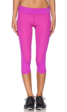 Trina Turk Jet Set Jacquard Crop Legging in Berry
