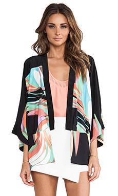 Trina Turk Evangelina Kimono in Black