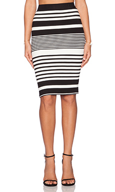 Trina Turk Adelisa Skirt in Black & Ivory