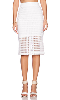 Trina Turk Bretta Skirt in White