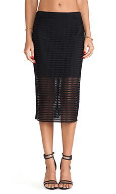 Trina Turk Bretta Skirt in Black