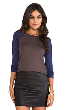 Trina Turk Must Have Jersey Dacey Top in Midnight/Rare Earth