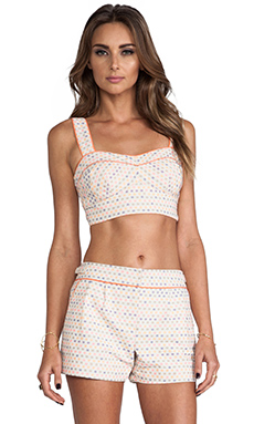 Trina Turk Evelina Crop Top in Cantaloupe