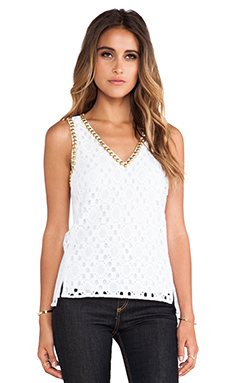 Trina Turk Two Harbors Top in White