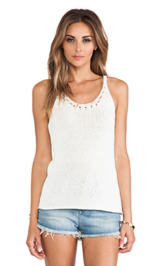 Trina Turk Vara Top in Whitewash