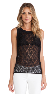 Trina Turk Myla Tank in Black