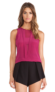 Trina Turk Devera Tank in Loganberry