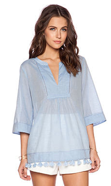 Trina Turk Capriani Top in Sky Blue