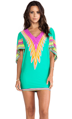 Trina Turk Plumas Cover Up Tunic in Emerald