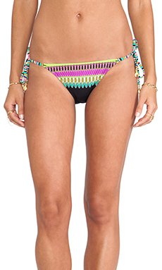 Trina Turk Plumas Tie Side Hipster Bikini Bottom in Black