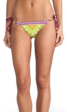 Trina Turk Seychelles String Bikini Bottoms in Papaya