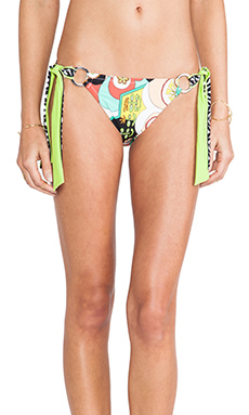 Trina Turk Modern Garden Sash Tie Hipster Bikini Bottom in Multi