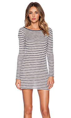 Tt Beach Stace Dress in Grey & Navy