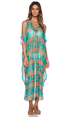Tt Beach Dreiser Caftan in Oasis Green