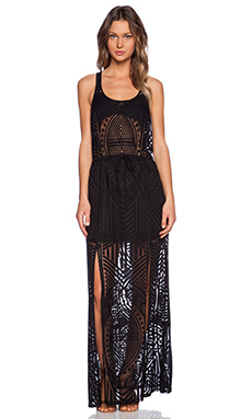 Tt Beach Scottie Maxi Dress in Black