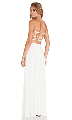 Tularosa Demi Strapless Maxi Dress in Ivory